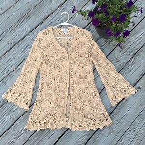 ❤️ Kim Rogers gorgeous crocheted open cardigan